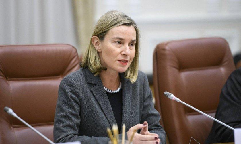 могерини: газпром должен выполнить свои договорные обязательства