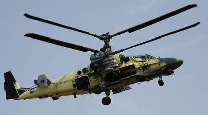 російський вертоліт ка-52 сирія