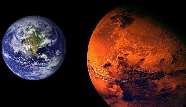 земля і марс