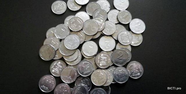 монети номіналом 1 та 2 копійки можна