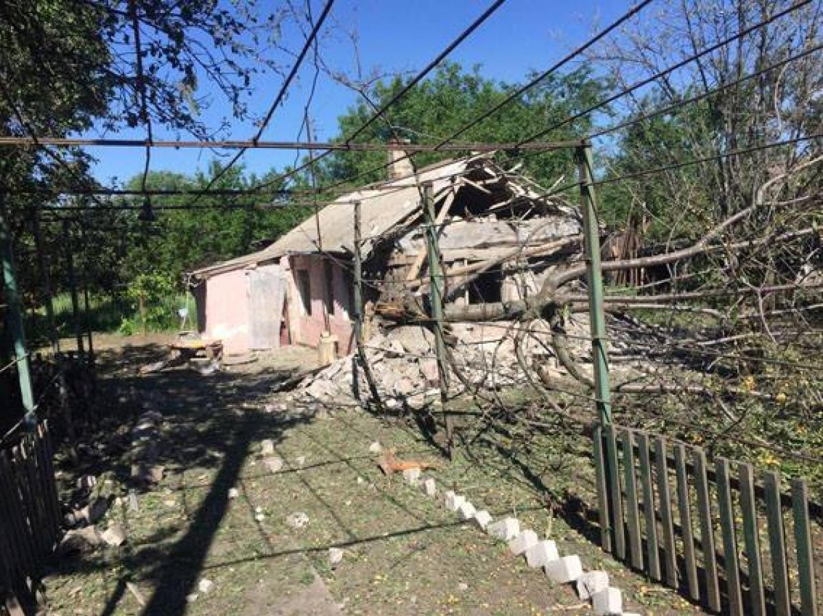 ВОльгинці Донецької області під час обстрілу бойовиків пошкоджено житлові будинки— військові