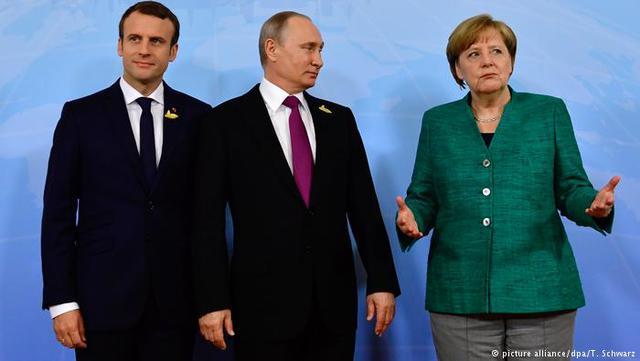 Путін, Меркель і Макрон проводять зустріч «наполях» саміту G20 уГамбурзі